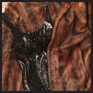 Silence + Noise black sequin dress in size 0